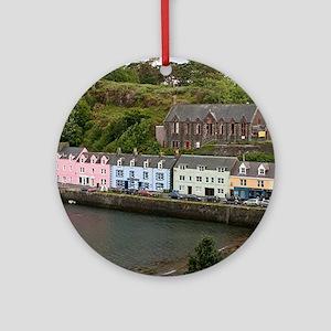 Portree, Isle of Skye, Scotland Round Ornament