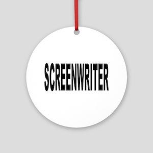 Screenwriter Ornament (Round)