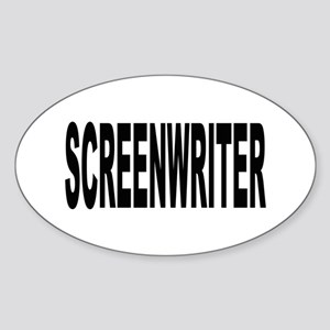 Screenwriter Oval Sticker