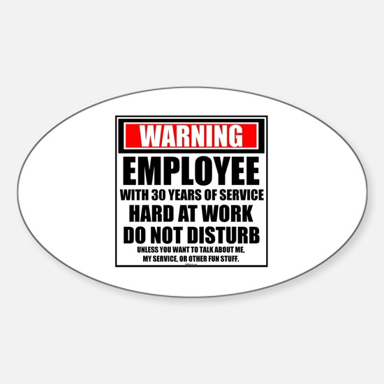 Unique Employee of the year Sticker (Oval)