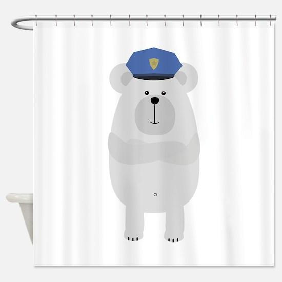 Polar Bear Police Shower Curtain