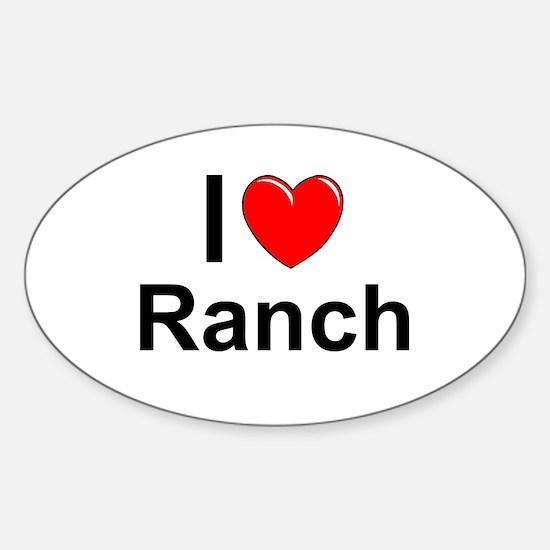 Ranch Sticker (Oval)