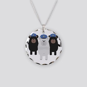 Grizzly Police Officer Squad Necklace Circle Charm