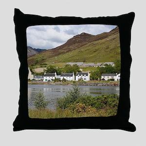 Dornie, Loch Long, Scotland Throw Pillow
