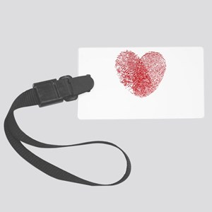 Fingerprint Heart Large Luggage Tag