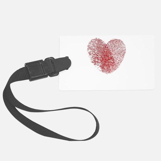 Fingerprint Heart Luggage Tag