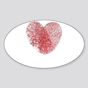 Fingerprint Heart Sticker