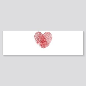 Fingerprint Heart Bumper Sticker