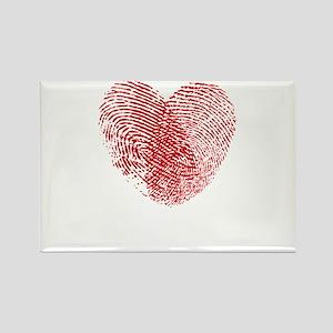 Fingerprint Heart Magnets