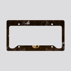 Music, clef with floral elements License Plate Hol