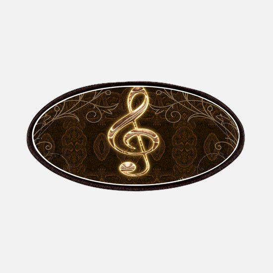 Music, clef with floral elements Patch