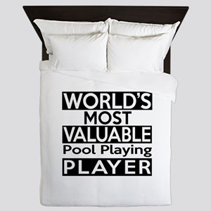 Most Valuable Pool Playing Player Queen Duvet