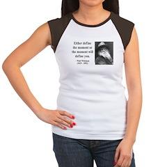 Walter Whitman 2 Women's Cap Sleeve T-Shirt