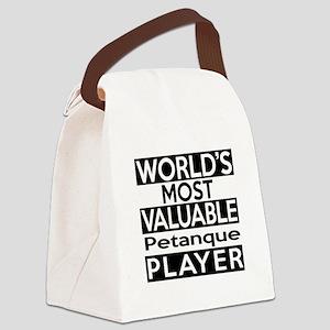 Most Valuable Petanque Player Canvas Lunch Bag