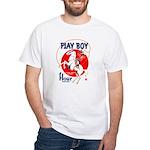 Play Boy Flour White T-Shirt