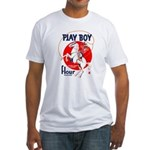 Play Boy Flour Fitted T-Shirt