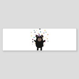 Party Black Bear Bumper Sticker