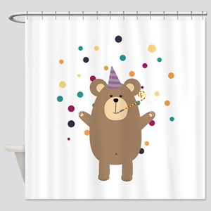 Party Brown bear Shower Curtain