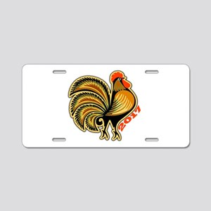 2017 Rooster Aluminum License Plate