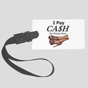 Cash for Pretty Feet Luggage Tag