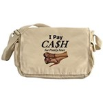 Cash for Pretty Feet Messenger Bag
