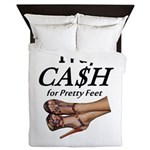 Cash For Pretty Feet Queen Duvet