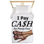 Cash For Pretty Feet Twin Duvet Cover