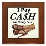 Cash for Pretty Feet Framed Tile