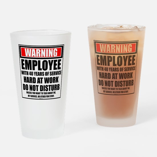 Cute Service awards Drinking Glass