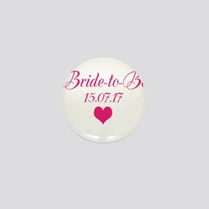 Bride to Be Wedding Date Mini Button
