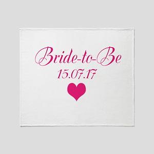 Bride to Be Wedding Date Throw Blanket