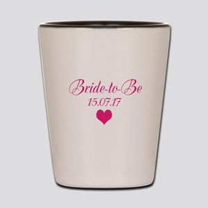 Bride to Be Wedding Date Shot Glass
