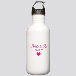Bride to Be Wedding Date Water Bottle