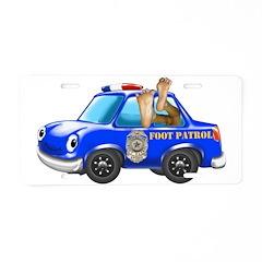 Foot Patrol Car Aluminum License Plate