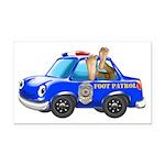 Foot Patrol Car Rectangle Car Magnet