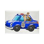 Foot Patrol Car Rectangle Magnet (10 pack)