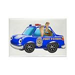 Foot Patrol Car Rectangle Magnet