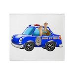 Foot Patrol Car Throw Blanket