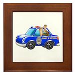 Foot Patrol Car Framed Tile