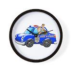 Foot Patrol Car Wall Clock