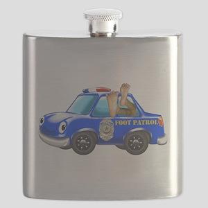 Foot Patrol Car Flask