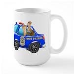 Foot Patrol Car 15 oz Ceramic Large Mug