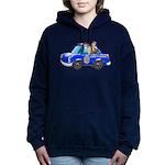 Foot Patrol Car Women's Hooded Sweatshirt