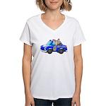 Foot Patrol Car Women's V-Neck T-Shirt