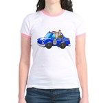 Foot Patrol Car Jr. Ringer T-Shirt