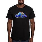 Foot Patrol Car Men's Fitted T-Shirt (dark)
