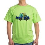 Foot Patrol Car Green T-Shirt
