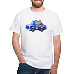 Foot Patrol Car White T-Shirt