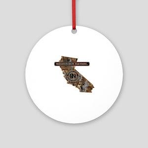 CALIFORNIA RIG UP CAMO Round Ornament