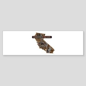 CALIFORNIA RIG UP CAMO Bumper Sticker